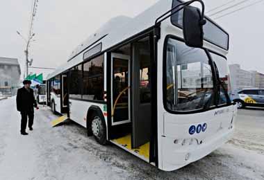 МАЗ поставил первую партию газомоторных автобусов в Новосибирск