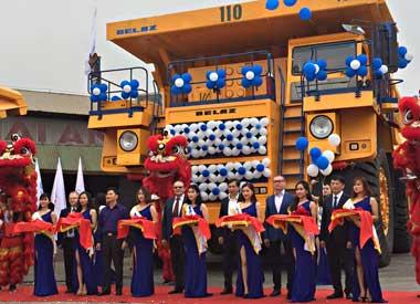 БелАЗ запустил в эксплуатацию во Вьетнаме 130-тонные самосвалы