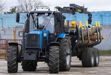 МТЗ-холдинг представил новую лесную погрузочно-транспортную машину