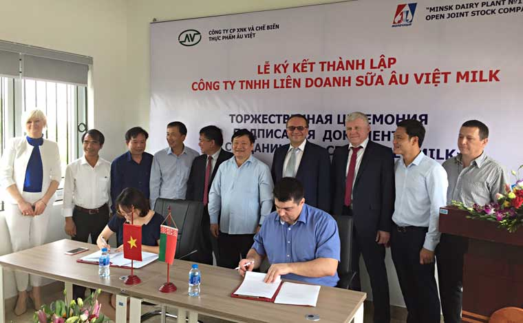 Белорусско-вьетнамское СП по производству молочных продуктов начало работу во Вьетнаме